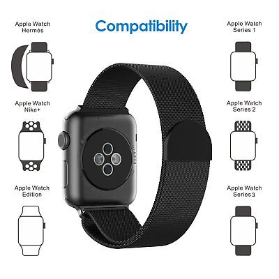 Milanese Loop Strap Watch Band For Apple Watch 38/42mm Series 1/2/3