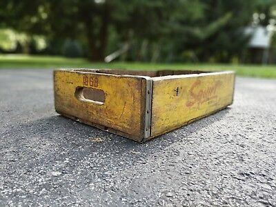 Vintage 1968 Squirt Soda Pop Wooden Box