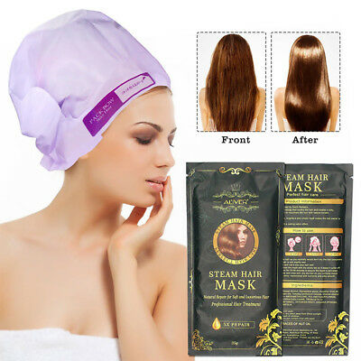 Hair Mask Automatic Heating Steam Keratin Argan Oil Treatment For Damage Hair