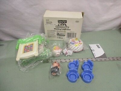 Fisher Price Little People wedding toy flowers bells fence cake NEW in box set