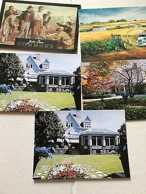 John Deere Postcards Lot Of 5, Moline, Illinois, Crouse, Harvest, Tractors