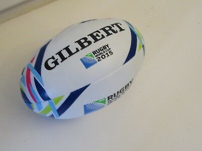 Rugby World Cup 2015 Gilbert small soft rugby ball souvenir