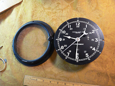 Chelsea Clock Company Boston U.S. Government Porthole Type Clock 12/24 Hr. Dial