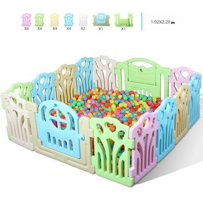20 PCS Panel Foldable Baby Playpen Kids Security Play Pens Indoor Outdoor Divide