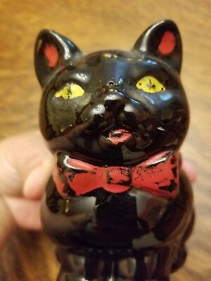 Vintage  BLACK CAT Figurine Made in JAPAN Perfect for Halloween