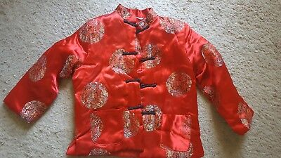 Chinese Boy's Traditional Jacket -Red/Gold