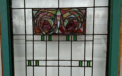 37 MATCHING LOT OF MACKINTOSH ROSE Stained Glass Windows French Doors