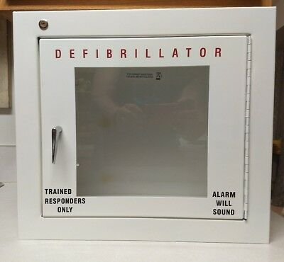 Universal AED Cabinet With Alarm Wall Mounted Fits All AED Models