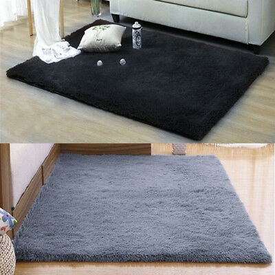 Bed Side Fluffy Rugs Anti-Skid Shaggy Area Rug Home Dining Room Carpet Floor Mat