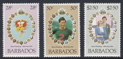 Barbados 1981 Royal Wedding Set UM