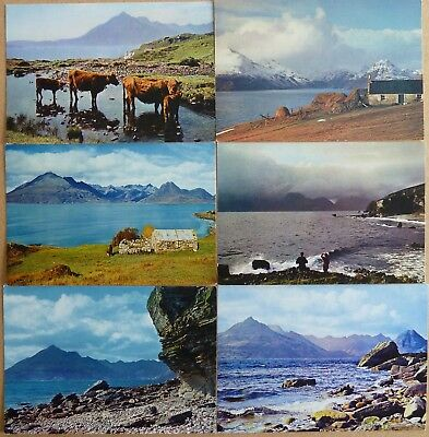 6 Postcards : Views of The Cuillins and Loch Scavaig from Elgol, Isle of Skye.