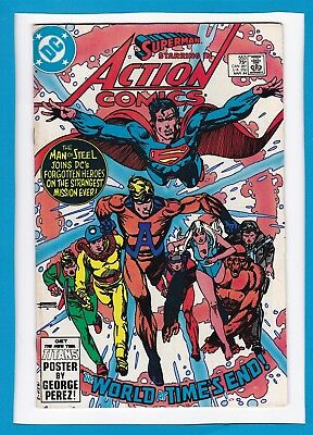 """Action Comics #553_Mar 1984_Very Fine Minus_Superman_""""the World At Time's End""""!"""