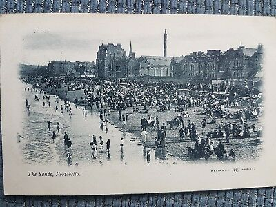 The Sands, Portobello, Edinburgh 1905. Vintage Printed Postcard