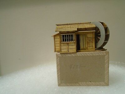 interesting vintage/antique Japanese celluloid water mill building & part box