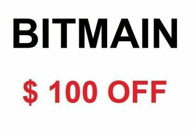Bitmain Antminer  Coupon $100 Accept Crypto and  Paypal L3+ S9 X3 Z9