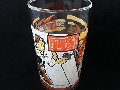 Vintage Star Wars Return of the Jedi Han Solo 1983 Burger King Coca Cola Glass