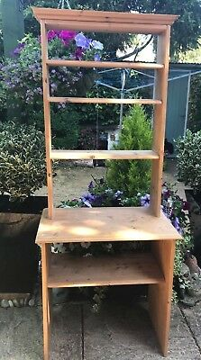 Attractive Hand Made Antique Style Very Good Condition Pine Dresser/Bookcase