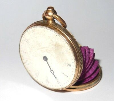 Antique French Pocket Watch Coin Purse Very Rare 19Th Century Sovereign Purse