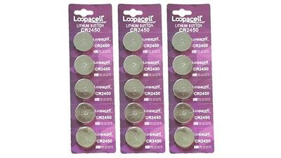15 pcs CR2450 CR 2450 3v Lithium Batteries Button Cell Loopacell USA Fast Ship