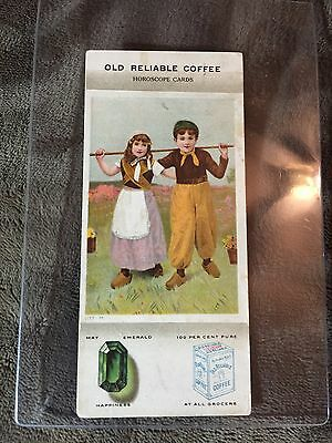 Old Reliable Coffee Horoscope Card - May