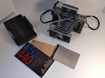 Polaroid 440 Land Camera with Owners Manual,