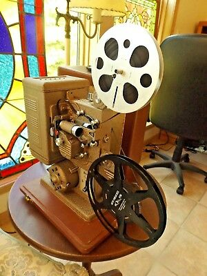 Vintage 1960s Keystone Eighty 8MM Film Projector Vg Cosmetic & Works Great
