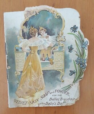 vintage Velvet Skin Soap adverting pamplet. 1895. Palisade Manfg. Co. Yonkers, N