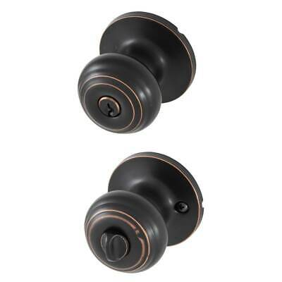 Honeywell 8101401 Classic Entry Large Head Knob Door Lock - Oil Rubbed Bronze