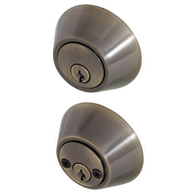 Honeywell 8112109 Double Entry Cylinder Deadbolt Door Lock - Antique Brass