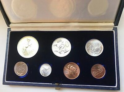 1965E South Africa Silver Mint Proof Set Coins - Original Display case