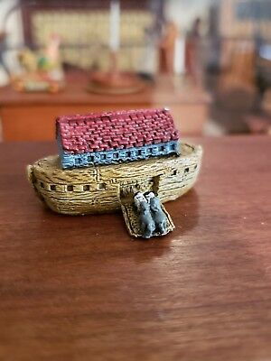 Dollhouse Miniature Painted Heavy Metal Noahs Ark