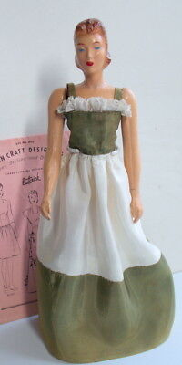 12.5 Butterick Sewing Manikin Doll with Pattern 1940's Mannequin