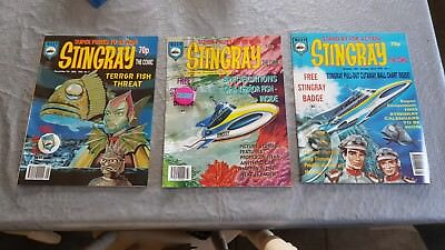 Nice unread mint condition collection of gerry anderson stingray comics 1 - 3