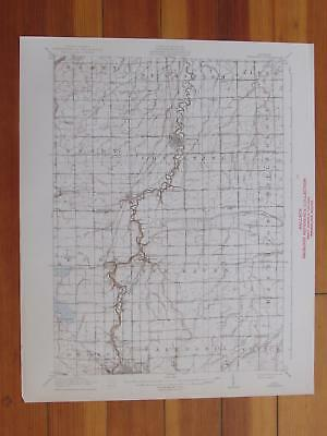 Chesaning Michigan 1941 Original Vintage USGS Topo Map