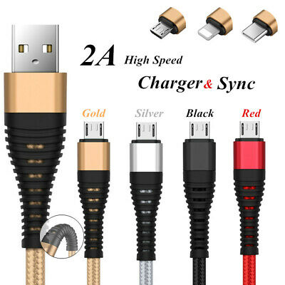 Micro USB/Type C/iOS Cable Lightning Fast Charger Data Cable For Samsung Xiaomi