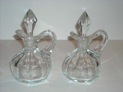 Vintage Pair of Glass Decanters
