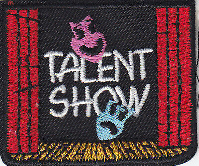TALENT SHOW Iron On Patch Acting Movies Stage Singing Dancing Comedy