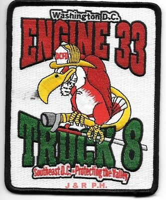 """Washington D.C.  Engine - 33 / Truck - 8  """"Protecting the Valley""""  fire patch"""