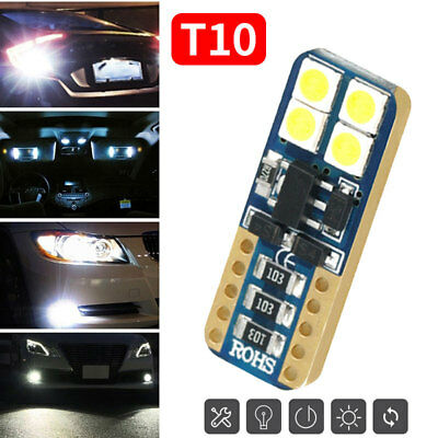 T10 8smd 3030 LED Replace Durable License Plate Lamp 480LM Signal 12V 4W