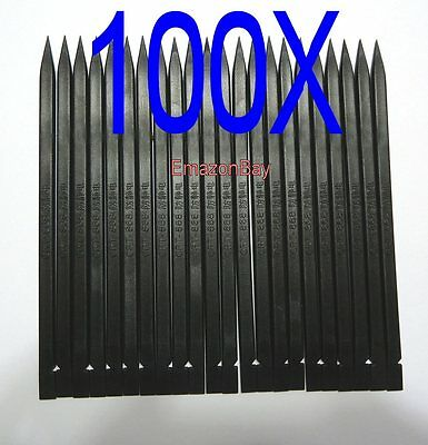 100 X Plastic Nylon Pry Spudger Black Opening Repair Tool iPhone iPad Laptop PC