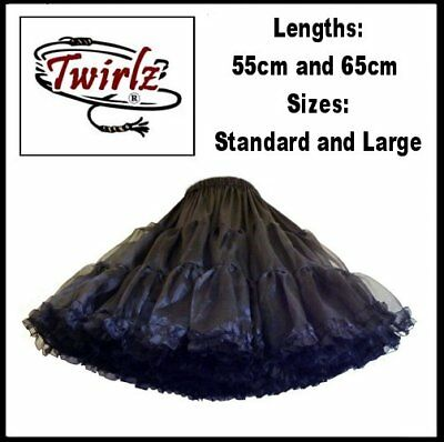 TWIRLZ EXTRA FULL 55cm/65cm Petticoat Square Dance, RocknRoll, Vintage Dress New