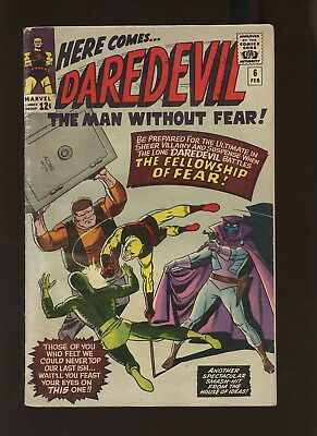 Daredevil 6 GD/VG 3.0 *1 Book* Mister Fear 1st Appearance! Lee & Wally Wood!
