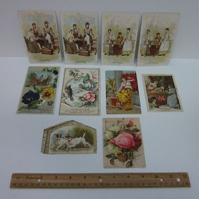 10 1800s Sewing Machine Advertising Trade Cards White Singer New Home etc bv7950