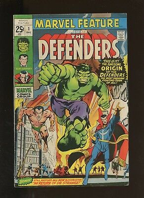 Marvel Feature 1 VG 4.0 *1 Book* 1st Issue Vol.1!1st Defenders,Neal Adams Cover