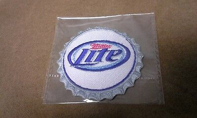 "Miller Lite Bottle Top Patch 2.5"" Embroidered Iron On / Sew On"