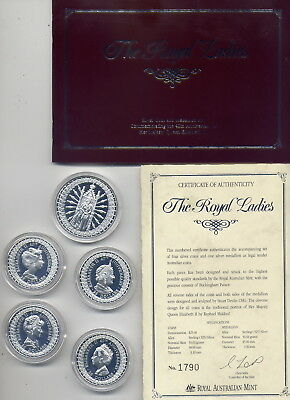 1992 ROYAL LADIES in STERLING SILVER: MASTERPIECES in SILVER   NO   RESERVE
