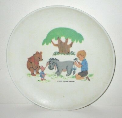 Disney Vintage Winnie The Pooh 1964 Melamine Kids Plate Allied Chemical Deal/2