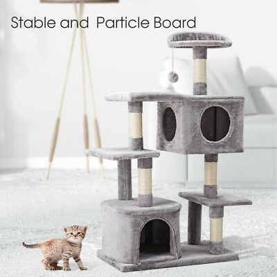 124cm Cat Scratching Post Tower Tall Tree Gym House Scratcher Condo Furniture AU