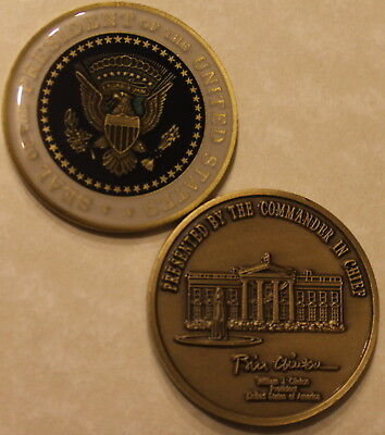President of the United States Challenge Coin Bill Clinton Number, 42