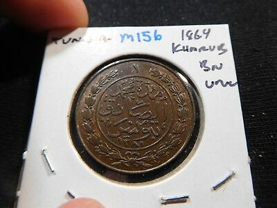 M156 Africa Tunisia 1864 Kharub UNC Brown